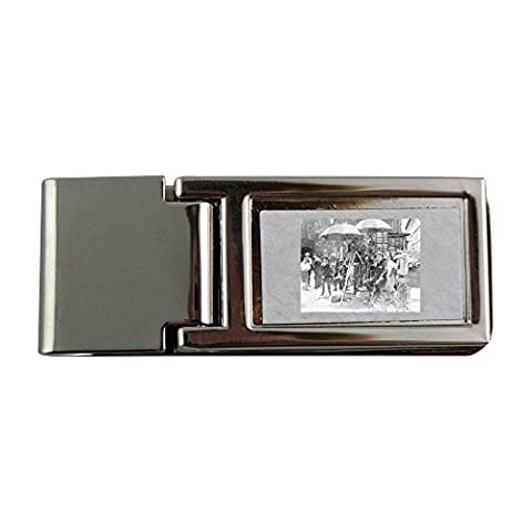 Metal money clip with Giving direction