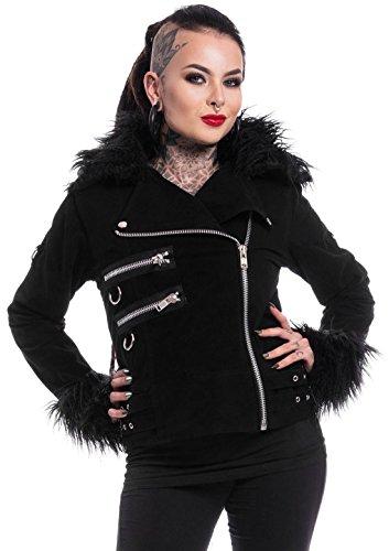 Heartless Femme Medium Clothing Noir Baggy Manches Longues Blouson Uni vw8OnmN0