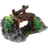 Homyl Ornamento de Terrario Reptil Hábito Decoración Tortuga Basking Plataforma - Estilo 2
