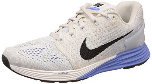 Nike Women's Nike Lunarglide 7 White and Light Blue Running Shoes - 7 UK/India (41 EU)(8 US)  available at amazon for Rs.5348