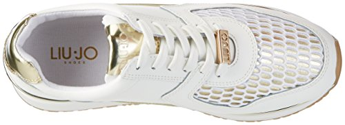 LIU JO Shoes Femmes - Sneaker MIYOSHI S17157 - white gold Weiß (White/Gold)