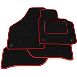 Black Heel Pad Fully Tailored Car Mats 2015+ Car Mats to fit Vitara Black Ribbed Trim Charcoal Carpet Weld Wide Heel Pad Car Mats