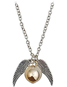 Jane Stone Halskette, Kette mit Anhänger, Film-inspiriert, Goldener Schnatz, Quidditch, Engelsflügel, Ball, magisches...