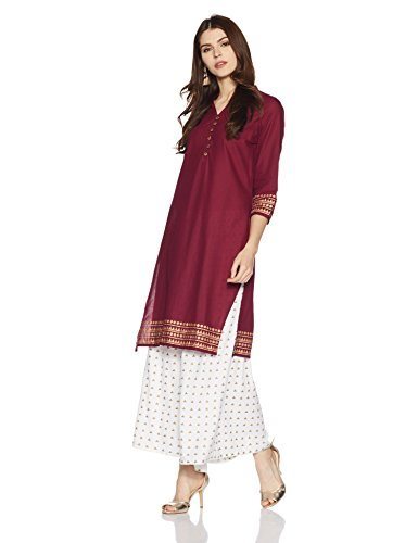 Indigo Women's Straight Cotton Kurta