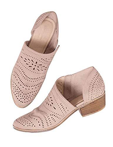 Zapatos Mujer Verano Otoño Sandalias De Cuña Tobillo Boots Respirable Hueco Redonda Toe Zapatos Botas...
