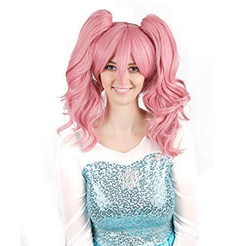 FMTMY Perücken Mittellange Lockigen Haar Wig Clip Schöne Frisuren Cosplay, Festival, Rock-Musik-Festival, Shopping, Halloween, Kostüm-Party, Karneval & Daily
