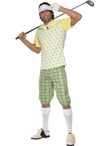 Golfer Kostüm für Erwachsene gelb ()