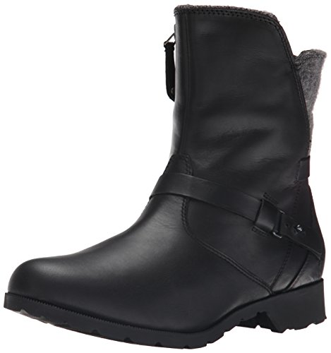 Teva Delavina Rund Leder Mode-Stiefeletten Black