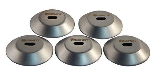Sendt Zirkular Klebebleche 5Packung für die Verwendung mit Tablets und andere Geräte ohne Kensington Slot (Lock 1 Security Cable Notebook)