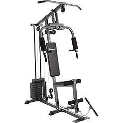 TecTake Station de Musculation Home-Trainer | Module Papillon | Dispositif d'Extension de Jambe | Barre de Traction - diverses modèles (Typ 1 | No. 402756)