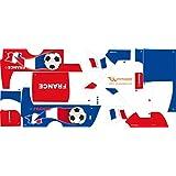 Stickers Adhesivos de Playmyplanet Fútbol Francia Compatibles con Playmobil Bus 5106, 5025, 4419, 5603 Y 3169