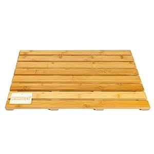 Elitehousewares WoodLuv Corbeille Deluxe rectangulaire de bambou tapis de bain