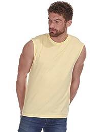 Hommes / Adultes Uni Cargo Bay Coton Sans Manche Sport Gym Débardeur / T-shirt