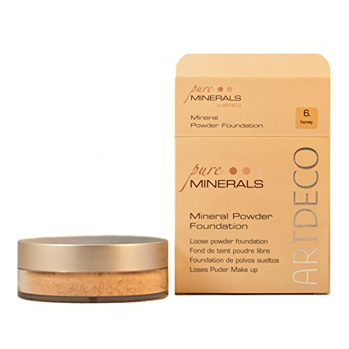 Artdeco Make-Up femme/woman, Mineral Powder Foundation Nummer 6 Honey (15g), 1er Pack (1 x 15 g)