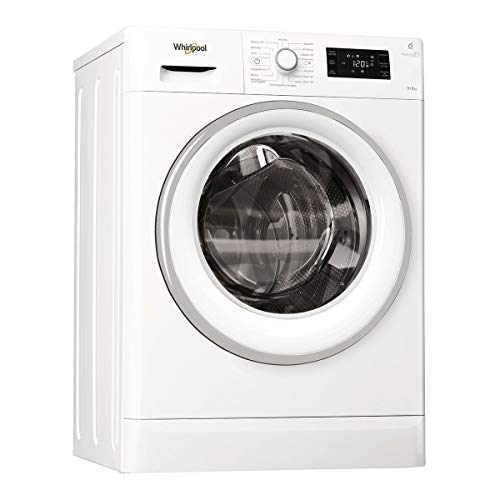 Whirlpool FWDG96148WS SP lavadora Carga frontal Independiente Blanco A - Lavadora-secadora (Carga frontal, Independiente, Blanco, Giratorio, Tocar, 6 kg, 1400 RPM)