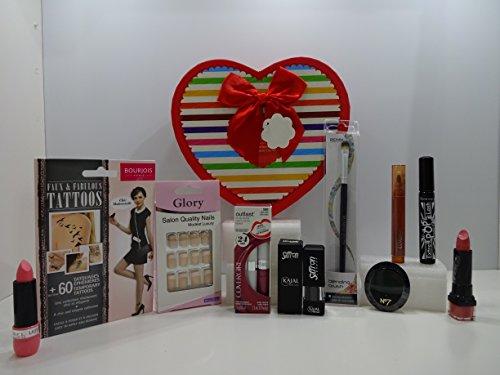 Ensemble de cadeau de Saint-Valentin pour son ~ Luxe 10pc Maquillage Beauté Boîte cadeau de mix marques Ensemble cadeau pour elle. 80.