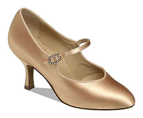 Supadance - Damen Standard Tanzschuhe Pumps 1012 - Flesh Satin - Normalweite - 2