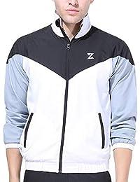 Azani Block Tech Woven Jacket - Ideal for Training & Running. Lightweight Full Zip Sports Jacket