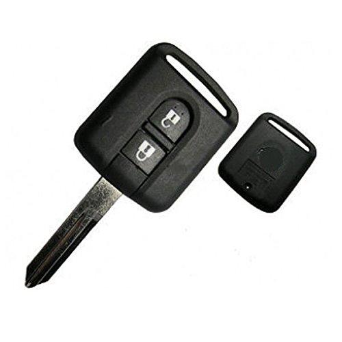 NissanKS01- Ersatz Schlüsselgehäuse Autoschlüssel Schlüssel Fernbedienung Funkschlüssel Gehäuse ohne Elektronik. Jurmann Trade GmbH® (für Nissan)