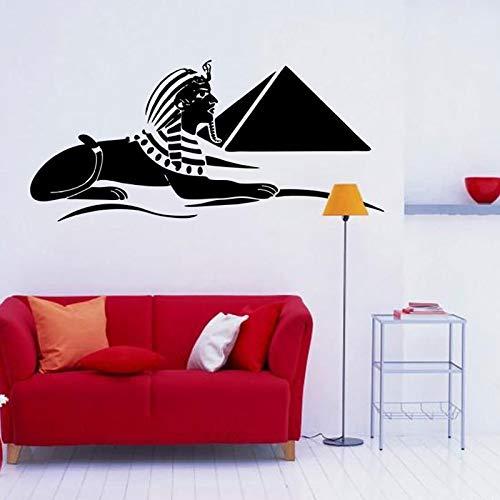 zhuziji Adesivi murali Camera dei Bambini Oldsphinx Roma Modello S Piramide Domestica S Stile Nordico Adesivo Decorativo Autoadesivo Camera da Letto Impermeabile Decorazione in Vinile Pvc93x42cm