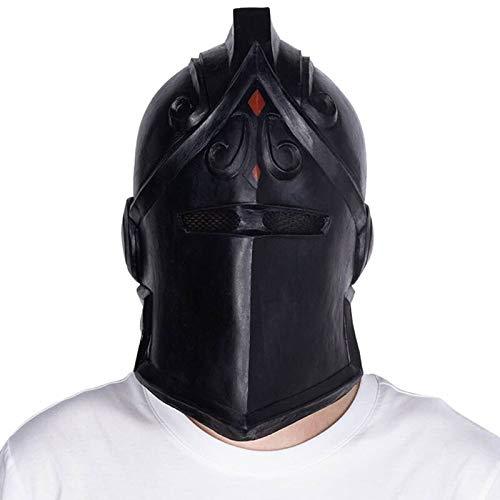 Für Erwachsenen Ritter Schädel Kostüm - VAWAA Halloween Cosplay Kostüm Requisiten Spiel Schwarz Ritter Maske Nacht Schlacht Latex Maske Für Maskerade Dress Up