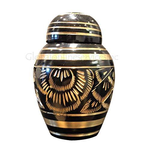 Urna de latón Pulido para Cenizas de cremación