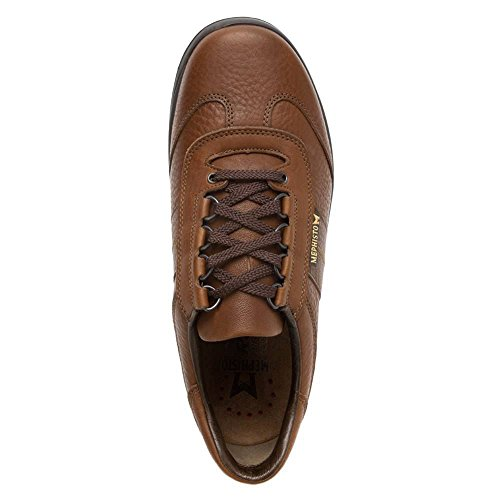 Mephisto Mens Hike Leather Shoes Marron