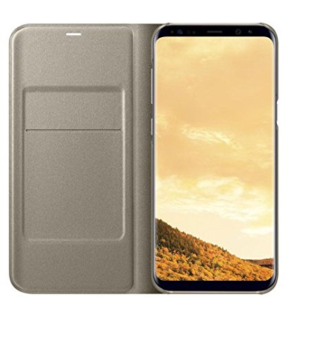 SmartLike PURE LEATHER TREAD FINISHING Premium Flip Cover for Samsung Galaxy Note 8 / Samsung Galaxy Note 8 Duos GOLD