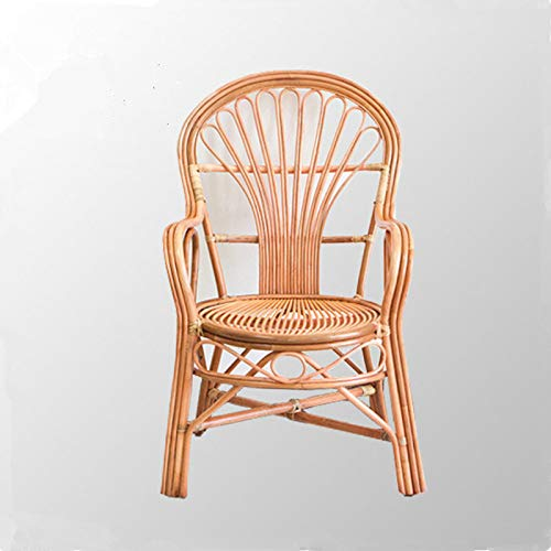 seeksungm Chair, Natural rotin Hand-Woven Wicker Chair, Eco-Friendly Breathable Balcony Lounge Chair, Stylish backrest Wicker Chair (62 * 57 * 102 cm)
