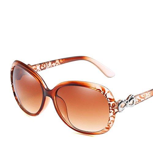 Aoligei Europa und die Vereinigten Staaten großen Rahmen Dame Sonnenbrillen Mode schmalen Gesicht solar Brille Sonnenbrille so Anti-UV SES
