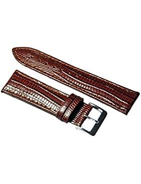 Uhrenarmband Leder Mittelbraun Teju-Eidechs Prägung 14-24mm Armband Uhr Band 24mm
