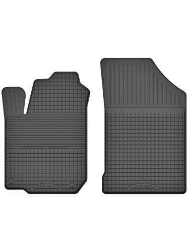 KO-RUBBERMAT 2 Stück Gummifußmatten Vorne geeignet zur OPEL AGILA B (Bj. 2007-2014) ideal angepasst