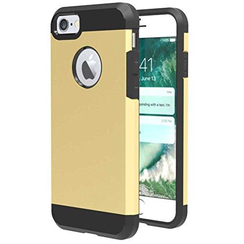 """iPhone 7 Coque, AOFad Case Anti - poussière Protection des lourds 2-à-1 gris TPU Avec 10 Colors Diamond Accessoires Série Pour Femme Homme 4.7"""" I099 AOFad B327"""
