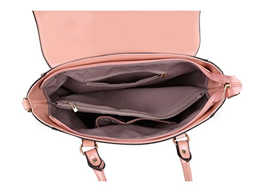 LeahWard® Damen Groß Tragetaschen Damen Essener-Tasche Mode Essener Chic Handtaschen Qualität Kunstleder oben Griff Tasche CWL0225 CWKP8840A CWKP8851 CWW1471 Große Größe-Red