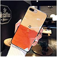 Preisvergleich für OVVO Einzigartiges Desigh iPhone 7P / 8P Farbverlauf Blaulicht Liebhaber Telefon Fall TPU Slim Phone Shell (Blau)
