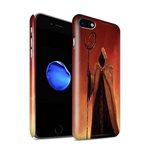 Offiziell Chris Cold Hülle / Glanz Snap-On Case für Apple iPhone 7 / Dunkelste Stunde Muster / Dämonisches Tier Kollektion Gevatter Tod