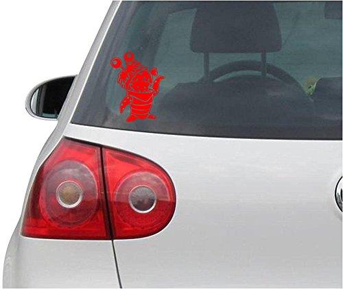 Aufkleber / Autoaufkleber - JDM - Die cut - MONSTERS INC BOO Decal Auto Window Laptop Sticker - rot - 88mmx116mm
