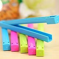 EQLEF® Colore casuale 12pcs della cucina della casa Colorful cibo sacchetto di plastica della guarnizione di tenuta del morsetto della clip Sealer-