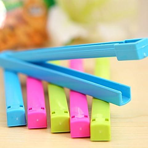 EQLEF® 6pcs Accueil cuisine colorée alimentaire Seal Plastic Bag clip étanchéité Clamp Sealer- couleur aléatoire