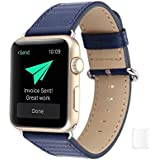 Brain Freezer Replacement Carbon Fibre Watch Strap For Apple IWatch Series 1, Series 2 , Series 3 42MM Blue Watch Not Including Plus Screen Guard