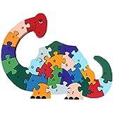 Woop Zahlen-puzzle Holz Schnecke - Pädagogisches Lern-Spiel - Zahlen von 1 bis 26 - Buchstaben von A bis Z - Klein-Kinder ab 3 Jahre