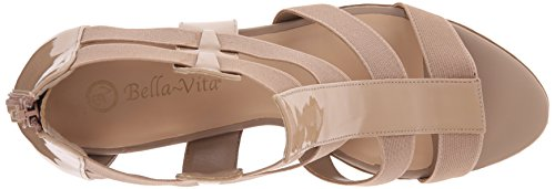 Bella Vita Lincoln II étroit Toile Sandales Nude Pat