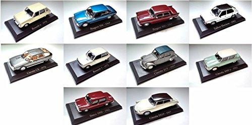 lot-de-10-voitures-francaises-1-43-peugeot-citroen-renault-simca-talbot
