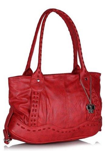 Butterflies Women's Handbag (Red) (BNS 0237)