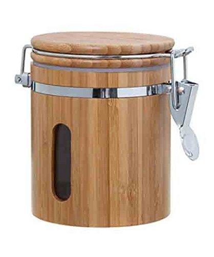 GMMH Bambus Vorratsdose Holz Vorratsbehälter Frischhaltedose Aufbewahrung Kaffeedose