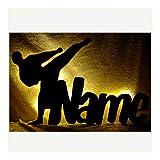 3D Led Wand-deko Judoka mit Name Geschenke f. Judo Karate Kampfsport Mann Frau Junge Dojo Budo Lampe