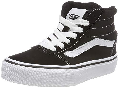 Vans Unisex-Kinder Ward HI Classic Suede/Canvas Hohe Sneaker, Schwarz ((Suede/Canvas) Black/White Iju), 34.5 EU