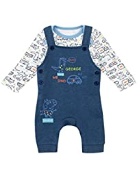 22e148eab7783 Peppa Pig Baby Boys George The Pig Dungaree Set Ages 0 To 18 Months