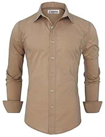 Tom's Ware Chemises habillees-bouton vers le bas-Hommes TWFD001-1-CS05-BEIGE-US S