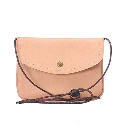 newnet universel en cuir horizontal Version de sac bandoulière sous 18,3cm (6S Plus. 6gplus. a8.n5.n4.s6bord +) Blanc blanc Rose - Rose